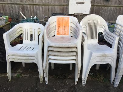 Plastic Stacking Garden Chairs From £5.00 Each